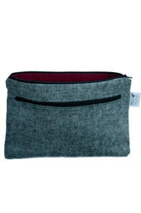 Dual Pocket Wet Bag - Yarn Dyed Gray/Black